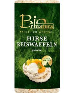 Rinatura Bio Hirse Reiswaffeln, 100 g