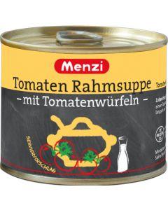 Tomaten Rahmsuppe mit Tomatenwürfeln von MENZI, 5x200ml