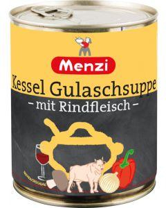 Kessel Gulaschsuppe mit Rindfleisch von MENZI, 800ml