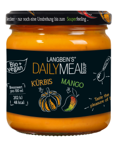 BIO Kürbis-Mango-Suppe im Glas von Langbein's DAILY MEAL, 350 ml