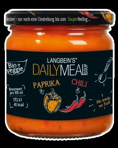 BIO Paprika-Chili Suppe im Glas von Langbein's DAILY MEAL, 350 ml